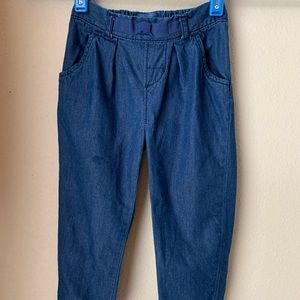 Pleat front Pull on Chambray Pant